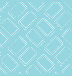 Pattern background with tablets mobile phones vector