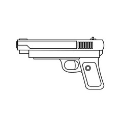powerful pistol gun handgun game weapon vector image