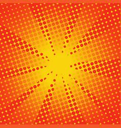 Retro rays comic yellow orange background vector