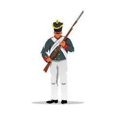 Russian ancient soldier at Borodino Cartoon vector image