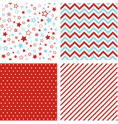 seamless patterns christmas backgrounds vector image