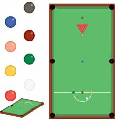 snooker set vector image vector image