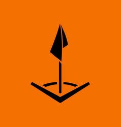 Soccer corner flag icon vector
