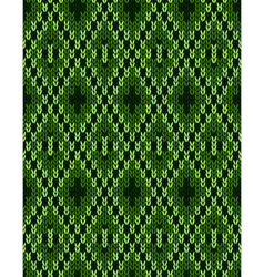 Style knit woolen seamless jacquard ornament vector