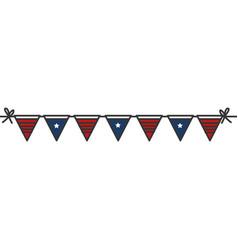 United states of asmerica garlands celebration vector
