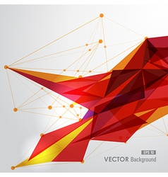Yellow and red web geometric transparency vector image