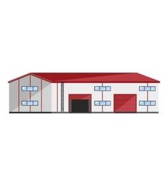 Warehouse exterior vector