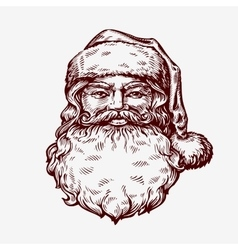 Santa claus sketch vector