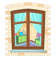 Cartoon window vector