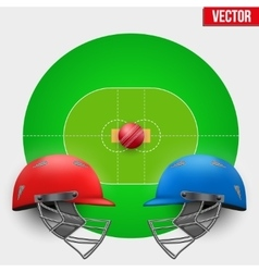 Background of cricket competition vector