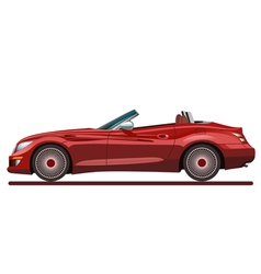 Red beautiful sport car vector image