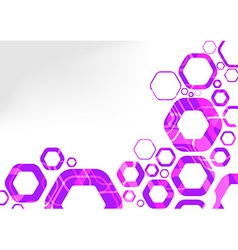 Hexagon futuristic background abstraction vector image