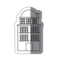 City buildings icon image vector