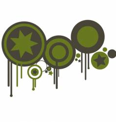 Circles in green and brown vector