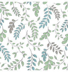 Seamless leaf pattern vector