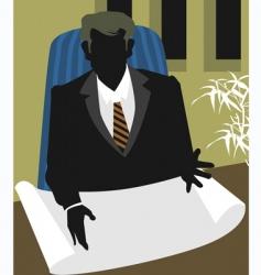 man reading vector image