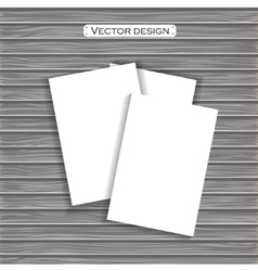 Blank paper template on a background vector