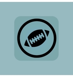 Pale blue rugby sign vector