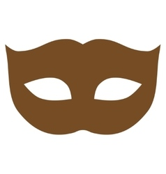 Privacy mask flat brown color icon vector