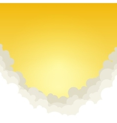 Abstract Yellow Background with Clouds vector image