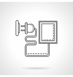 Device charger flat line icon vector