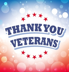 Thank you veterans banner vector