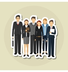 Businesspeople graphic design  editable vector