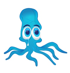 Crying octopus vector