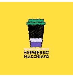 Flat icon design collection espresso vector