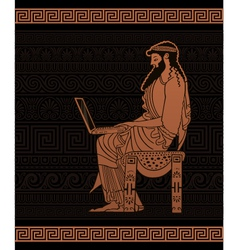 Ancient businessman vector image