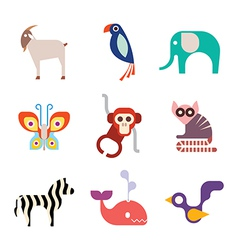 animal icons 10 vector image vector image