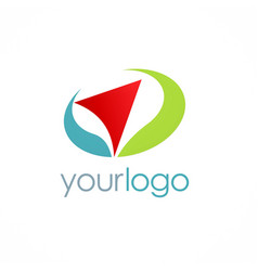 Arrow navigation color logo vector
