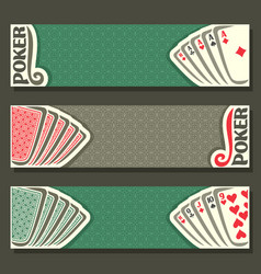 Banner for text poker game vector