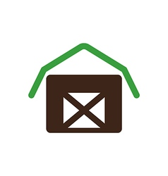 Barn house icon garden vector