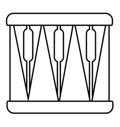 bass drum icon outline style vector image