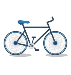 Bicycle sport isolated icon vector