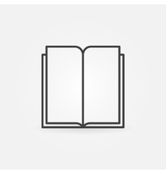 Book line icon vector image