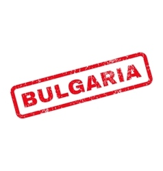 Bulgaria Text Rubber Stamp vector image vector image