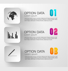 business abstract infographic concept vector image vector image