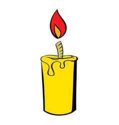 Candle icon icon cartoon vector