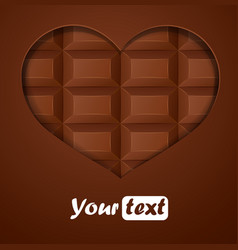 Chocolate hearts vector image vector image