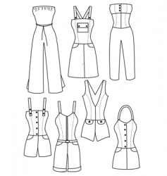 clothes women vector image vector image