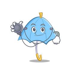 Doctor blue umbrella character cartoon vector
