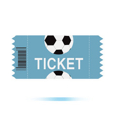 Football tickets icon on white background vector