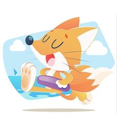 FUN FOX vector image vector image
