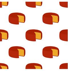 gouda cheese seamless pattern cartoon flat vector image vector image