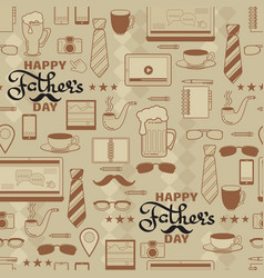 Happy fathers day seamless pattern vector