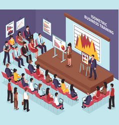 isometric business training vector image