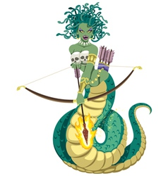 Medusa on white vector