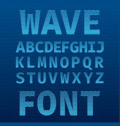 original wave font poster vector image vector image